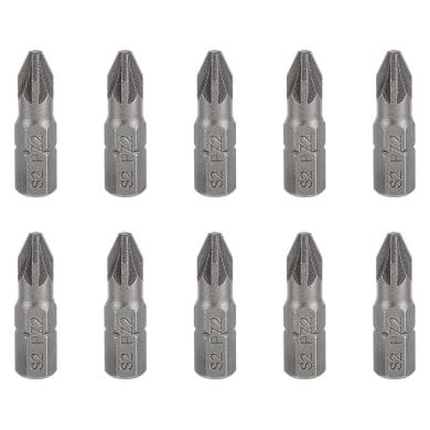Inserto per cacciavite pozidriv DEXTER 10 pezzi