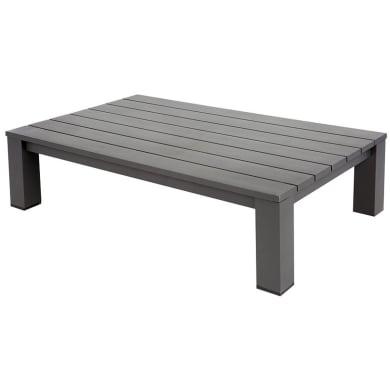 Tavolino da giardino rettangolare Indianapolis con piano in alluminio L 73 x P 118.5 cm