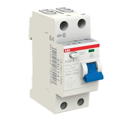 Interruttore differenziale puro ABB F202 A-25/0,03 2 poli 25A 30mA A 2 moduli 230V
