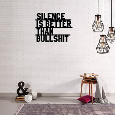 Decorazione da parete Metal Silence 30x50 cm