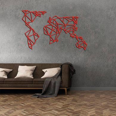Decorazione da parete Metal Mondo Rosso 120x60 cm