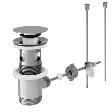 Valvola di drenaggio per lavabo cromato EQUATION con tappo