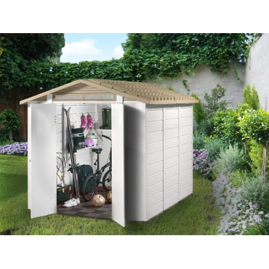 Casetta da giardino in pvc Tuscany Evo 240 4.65 m² spessore 20 mm