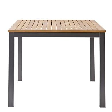Tavolo da giardino quadrato NATERIAL con piano in alluminio L 89 x P 89 cm