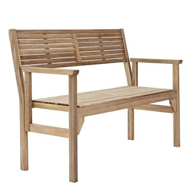 Panca da giardino senza cuscino pieghevole 2 posti in legno Solaris NATERIAL colore acacia