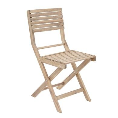 Sedia pieghevole in legno NATERIAL colore naturale