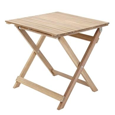 Tavolino da giardino quadrato Solis NATERIAL con piano in legno L 50 x P 50 cm