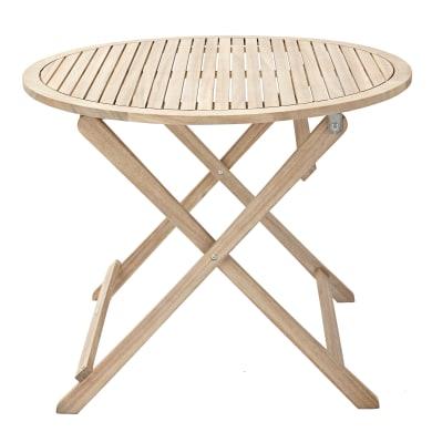 Tavolo da giardino tondo Solis NATERIAL con piano in legno x P 90 cm Ø 90 cm