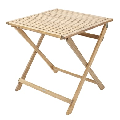 Tavolo da giardino quadrata Solis NATERIAL con piano in legno L 70 x P 70 cm
