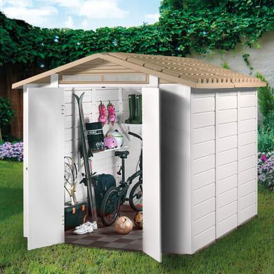 Casetta da giardino in pvc Tuscany 240,  superficie interna 4.65 m² e spessore parete 20 mm