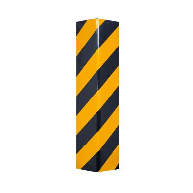 Protezione per garage in polietilene L 10 x H 50 cm nero e giallo