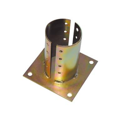Supporto per palo   in acciaio L 15x H 0.4