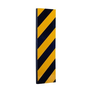 Protezione per garage in polietilene L 15 x H 50 cm nero e giallo