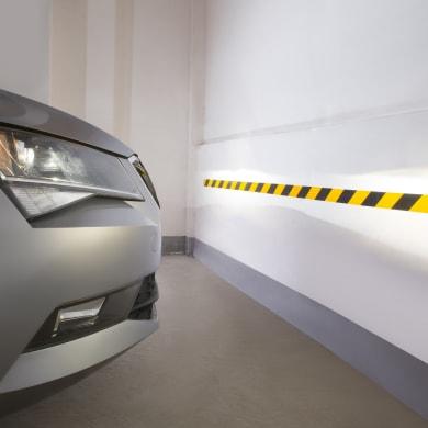 Protezione per garage in plastica L 6.3 x H 6.3 cm nero e giallo