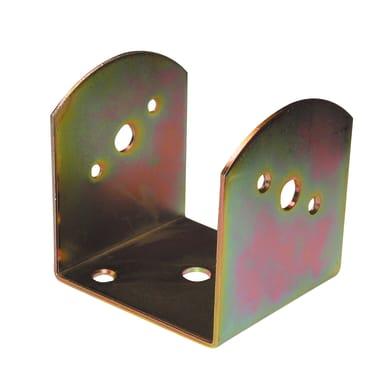 Supporto per palo Staffa in acciaio L 9x H 9.5