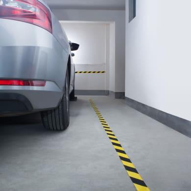 Protezione per garage in plastica L 11 x H 11 cm nero e giallo