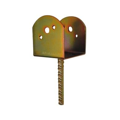 Supporto per palo Staffa in acciaio L 9
