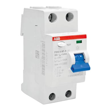 Interruttore differenziale puro ABB F202 A-25 / 0,03 AP-R 2 poli 25A 30mA A 2 moduli 230V