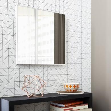 Specchio a parete quadrato Jo bianco 30x30 cm INSPIRE