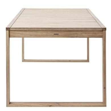 Tavolo da giardino allungabile rettangolare Solaris NATERIAL  con piano in Legno L 180 x P 90 cm