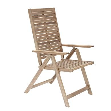Sedia con braccioli NATERIAL in legno colore naturale