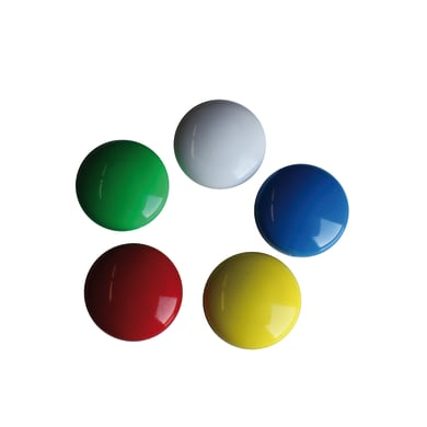 Magnete Bottone in ferro 8 pezzi multicolor