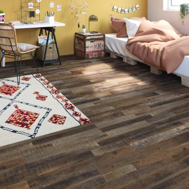 Pavimento PVC flottante clic+ Tantalu Sp 4.2 mm multicolore marrone