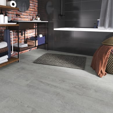 Pavimento pvc flottante clic+ Girraween Sp 4 mm grigio / argento