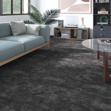 Pavimento PVC flottante clic+ Slate Sp 5 mm nero grigio / argento