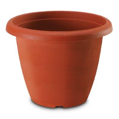 Vaso Terrae in polipropilene colore cotto H 37 cm, Ø 50 cm