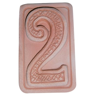 Decorazione in terracotta Due L 5 x H 9 cm