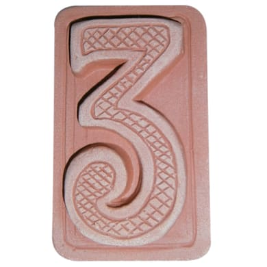 Decorazione in terracotta Tre L 5 x H 9 cm