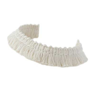 Passamaneria Marabout bianco