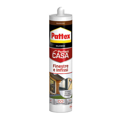Silicone PATTEX Finestre e Infissi marrone 290 ml