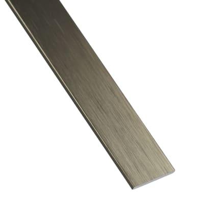 Profilo piatto STANDERS in alluminio 1 m x 3 cm titanio