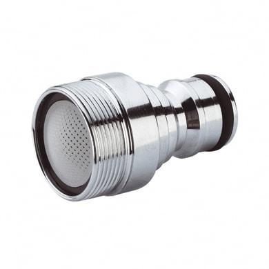 Adattatore di rubinetto Maschio in ottone cromato COLORTAP 1 via