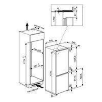 Frigorifero a incasso frigorifero combinato WHIRLPOOL ART 459/A+/NF/1 destra