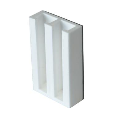 Supporto adesivo Ø7<multisep/>9mm in plastica bianco opaco, 2 pezzi