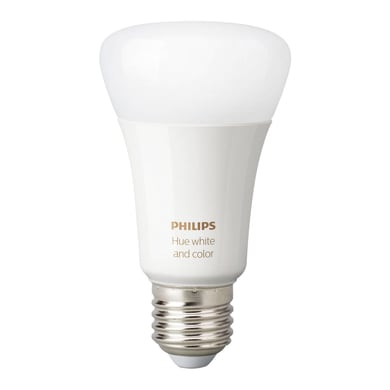 Lampadina Smart lighting LED Philips HueWCA 9W A60 E27 2P EUR dal bianco caldo al neutro E27 9W = 806LM (equiv 60W) 150° PHILIPS HUE, 2 pezzi