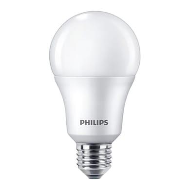 Set di 4  lampadine LED, E27, Goccia, Opaco, Luce calda, 10.5W=1055LM (equiv 75 W), 200° , PHILIPS