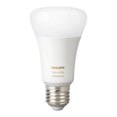 Lampadina Smart lighting LED Philips HueWA 8.5W A60 E27 2P EUR dal bianco caldo al neutro E27 9W = 806LM (equiv 60W) 150° PHILIPS HUE