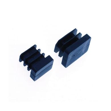 Base palo in plastica / pvc nero 10 x 20 mm,