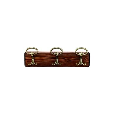 Appendiabiti in legno 3 ganci