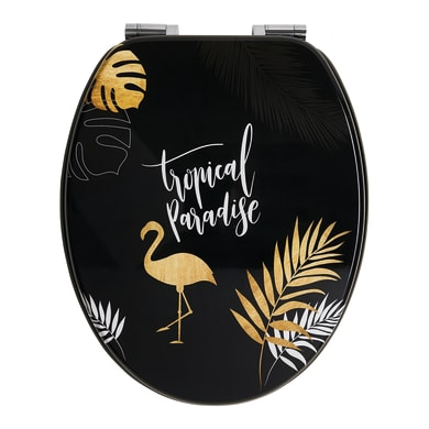 Copriwater ovale Universale Tropical Paradise WIRQUIN mdf fantasia
