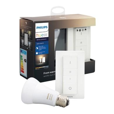 Lampadina Smart lighting LED Philips HueWA LRK 8.5W A19 E27 EU dal bianco caldo al neutro E27 8.5W = 806LM (equiv 60W) 150° PHILIPS HUE