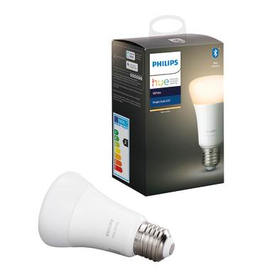 Lampadina collegato LED, HUE WHITE BLUETOOTH, E27, Goccia, Opaco, Luce calda, 9W=806LM (equiv 60 W), 150° , PHILIPS HUE
