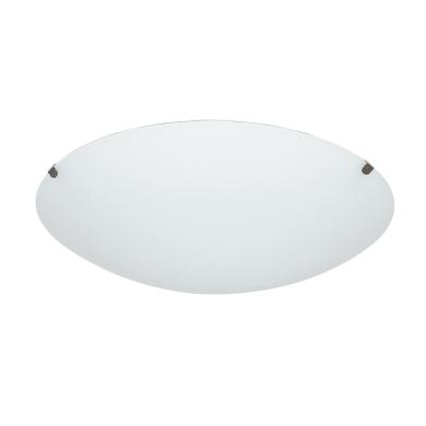 Plafoniera classico Pluton bianco, in cristallo,  D. 25 cm 25x25 cm,