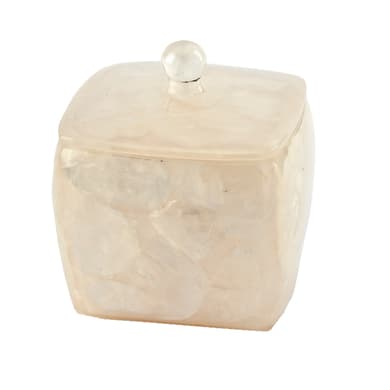 Porta cotone Perla in resina beige