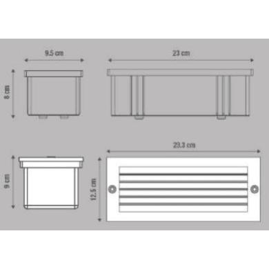 Faretto da incasso da esterno No Quadrato Flint 9 x 10 cm  diam. 12.5 cm INSPIRE