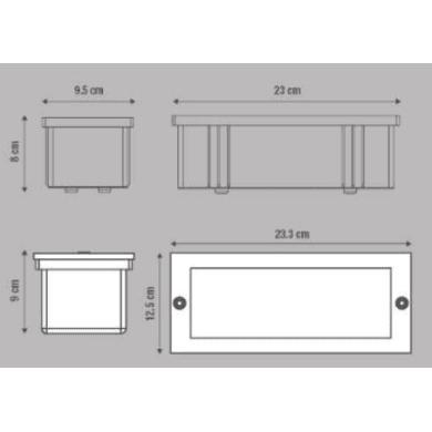 Faretto da incasso da esterno No Quadrato Dover 9 x 10 cm  diam. 0 cm INSPIRE